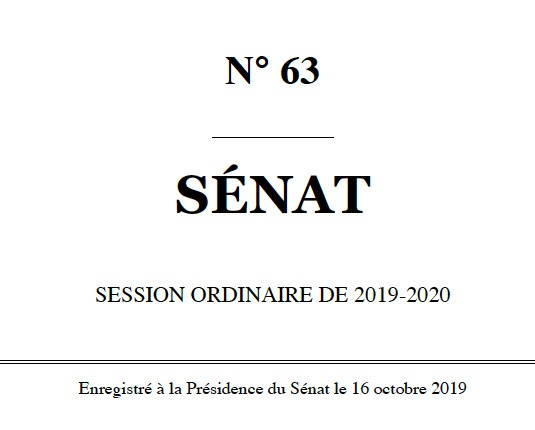 sénat n63 session ordinaire 2019 2020