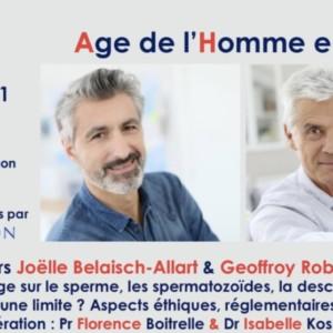 Webinaire Age de l'homme et PMA le 7 mai 12h- 14 h